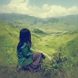 La mujer y la montaña