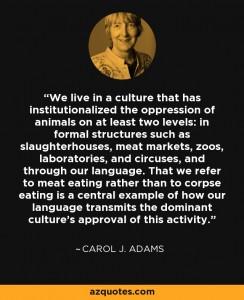 Entrevista a Carol J. Adams-La política sexual de la carne