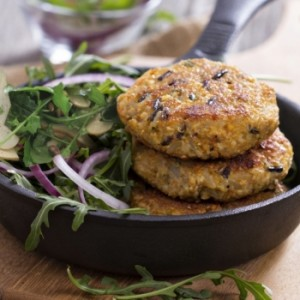 receta vegana: Hamburguesa de arroz y alubias rojas