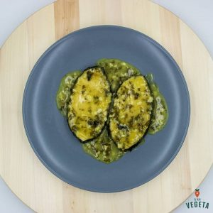 rodajas vegetales en salsa verde, receta vegana de mi cabra vegana