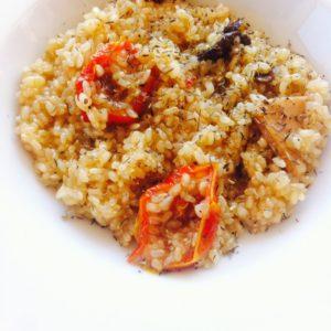 Risotto de quinoa y setas, la receta