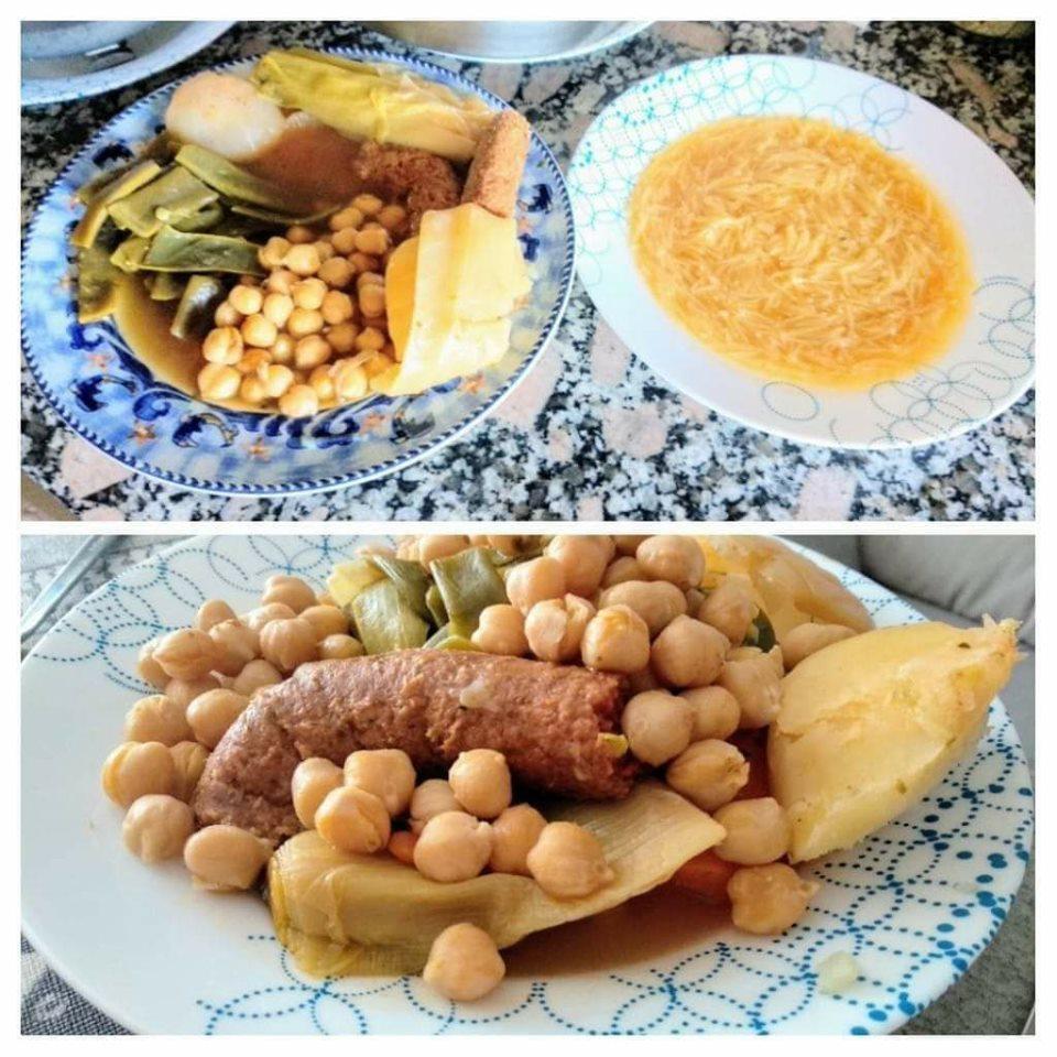 veganizando recetas: cocido madrileño